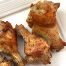 Lemon Pepper Baked Chicken Wings | Living Low Carbs Recipes