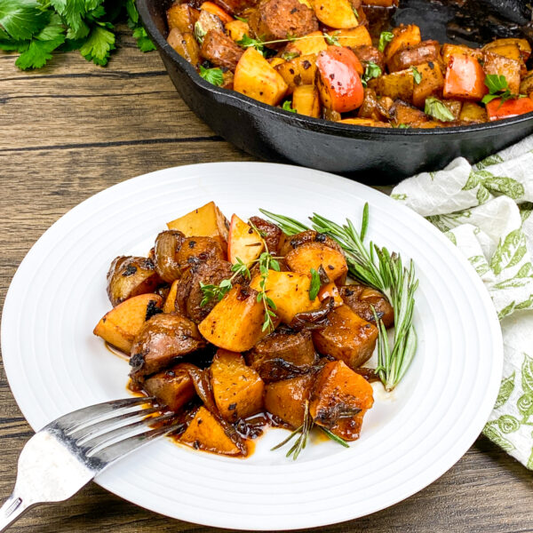 Chorizo and Potato and Apple Skillet | Kitchen-Tested Monthly Recipe Ideas