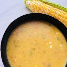 Spicy Sweet Corn Chowder | Farmer's Market Finds Recipes