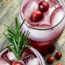 Cinnamon and Cumin-Infused Cranberry Spritzer   Healthy Holiday Recipes