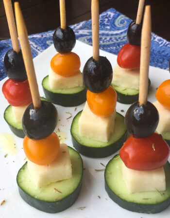 Greek Salad Skewers | Cocktails and Mocktails and Appetizers Recipes