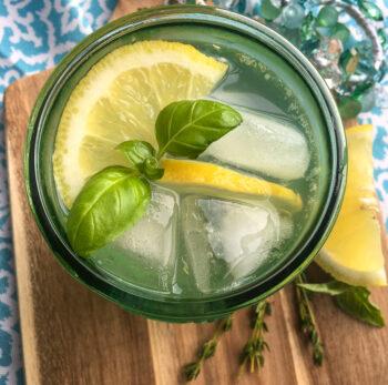 Lemon Herb Spritzer | Cocktails and Mocktails and Appetizers Recipes