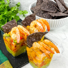 Mango Salsa Shrimp Cups | Cocktails and Mocktails and Appetizers Recipes