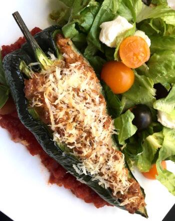 Chorizo-Stuffed Poblano Peppers | Farmer's Market Finds Recipes